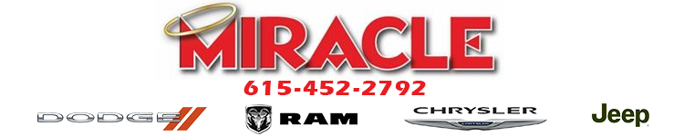 Miracle Chrysler Dodge Jeep Ram   1290 Nashville Pike Gallatin, TN 37066    615 452 2792