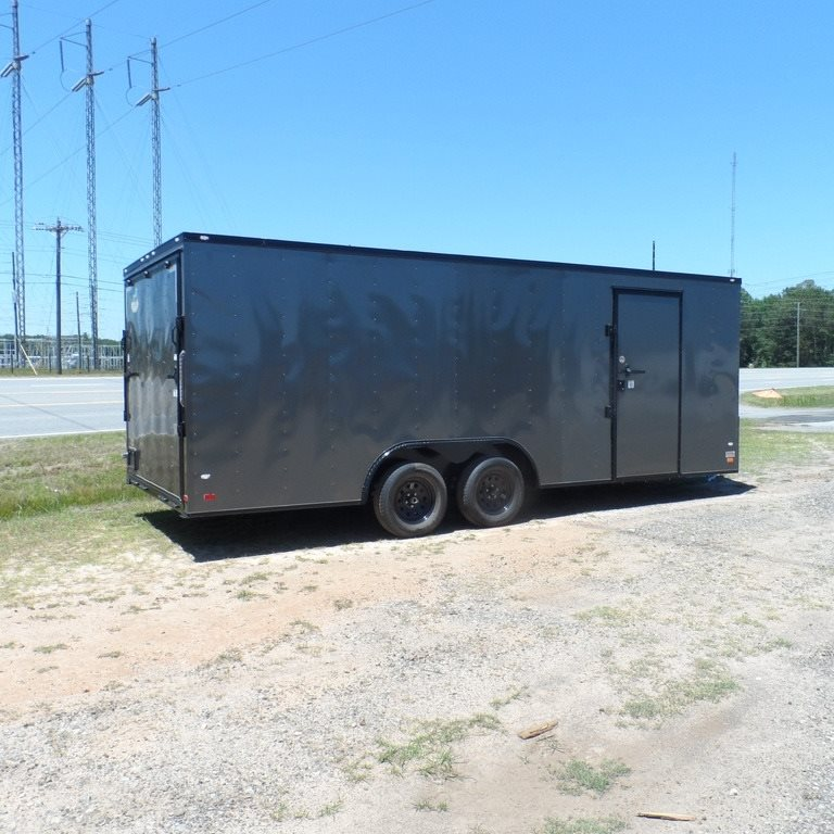 2ft V Nose Black Out Trim Enclosed Cargo Motorcycle Car Hauler Trailer 22 Ebay