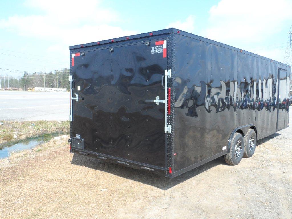 2ft V Nose Black Out Trim Enclosed Cargo Motorcycle Car Hauler Trailer 26