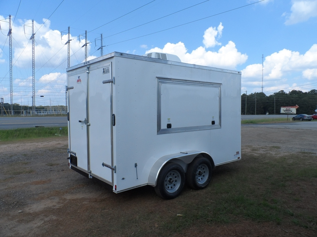 2016 Covered Wagon Consession Enclosed 7x12 Trailer With Sink Package Ebay