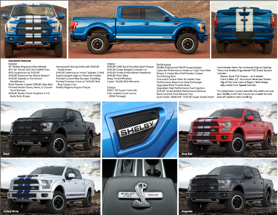 2016 ford f 150 shelby f 150 700 hp supercharged fox suspension ebay. Black Bedroom Furniture Sets. Home Design Ideas