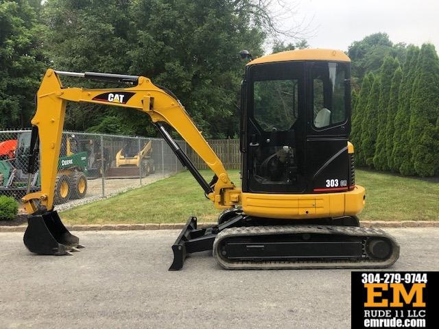 2005 Caterpillar 303CR Rubber Track Excavator Diesel Cab Cat