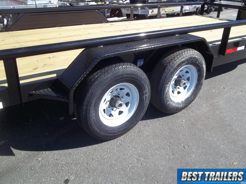 Bobcat Trailer Fenders : Flatbed hd pipe equipment bobcat trailer w tube