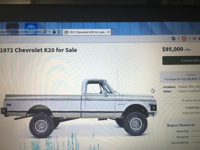 1972 Chevrolet K20 Long Box photo