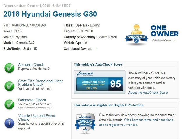 2018 Genesis G80 3.8 photo