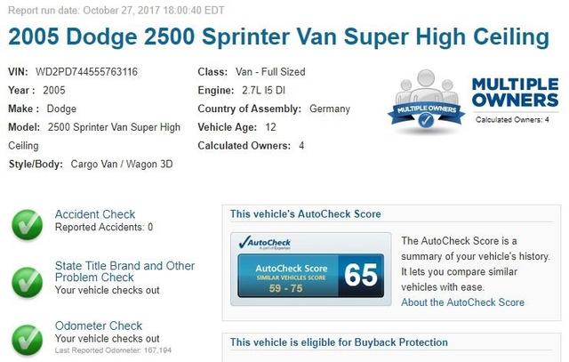 2005 Dodge Sprinter 2500 High Roof 158 WB photo