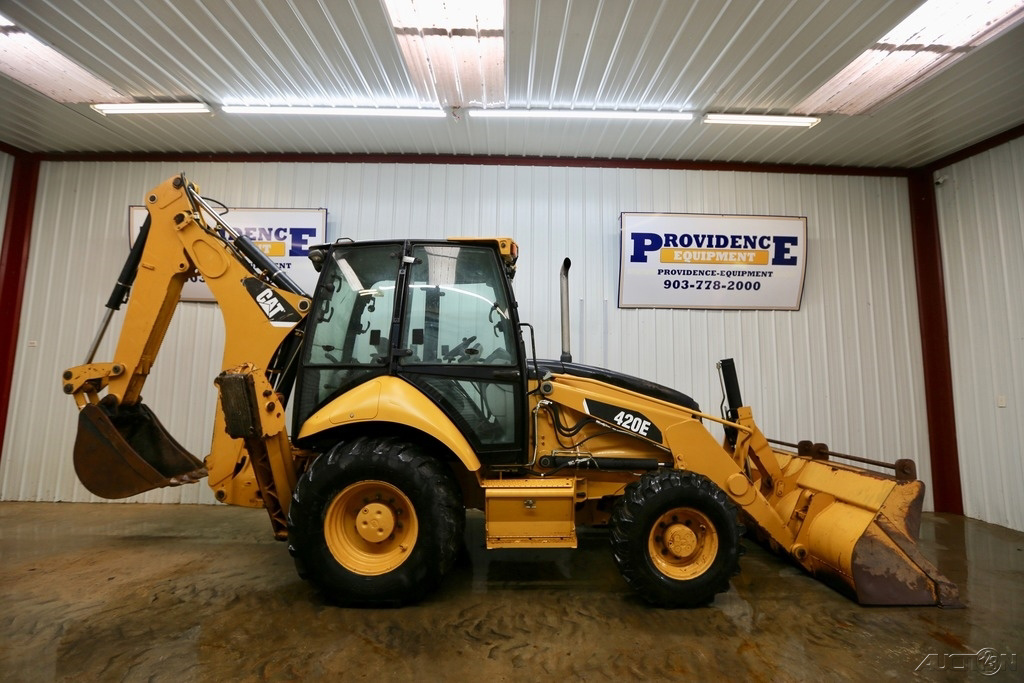 CAT 420E CAB LOADER BACKHOE, 93HP, BACKHOE PILOT CONTROLS