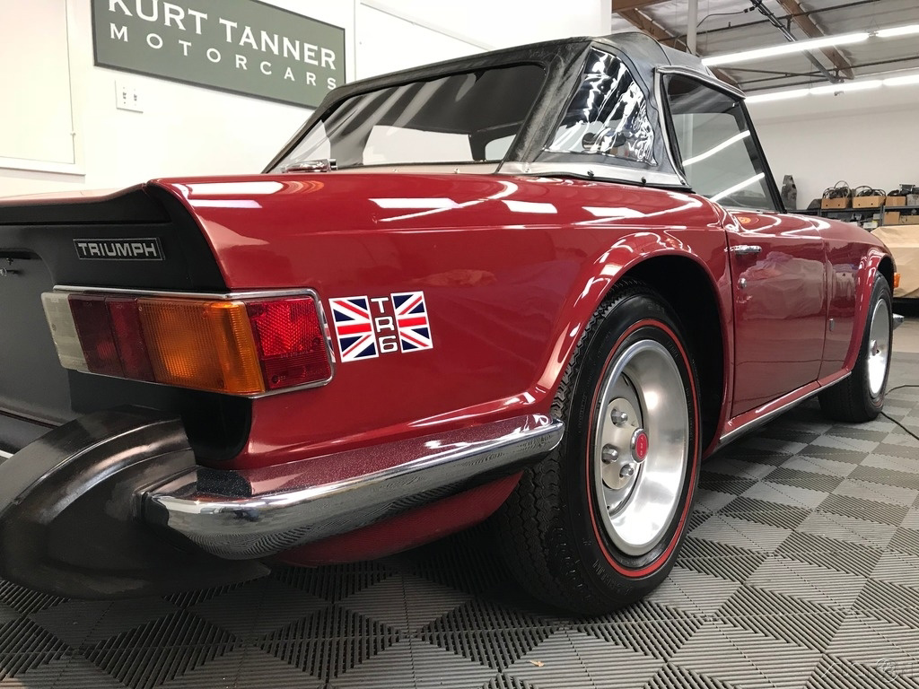 1974 Triumph TR-6 4-SPEED. STANDARD WHEELS. MICHELIN RED LINE TIRES: 1974 TRIUMPH TR-6 CONVERTIBLE. 2-OWNERS. 72K ORIGINAL MILES. VERY NICE RESTORED
